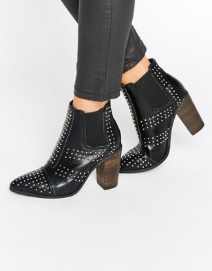 Asos : http://www.asos.com/glamorous/glamorous-stud-point-heeled-ankle-boots/prd/6819071?iid=6819071&clr=Black&SearchQuery=studded%20shoes&pgesize=36&pge=0&totalstyles=103&gridsize=3&gridrow=6&gridcolumn=2